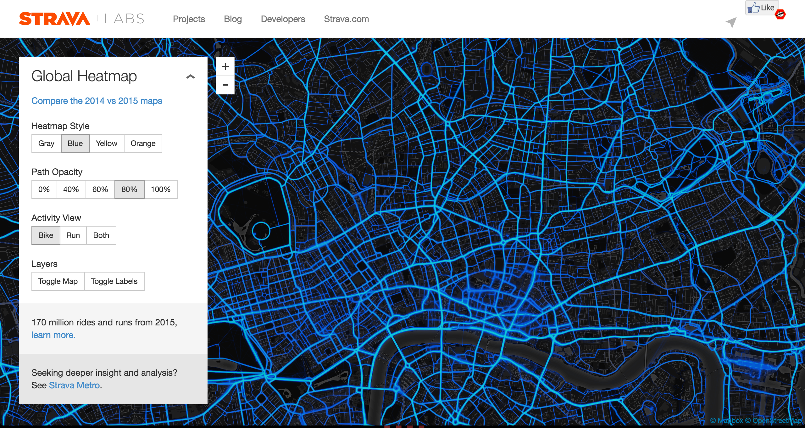 strava labs screenshot
